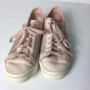 Adidas Women Pink Round Toe Lace Up Sneakers Shoes